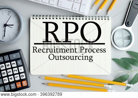 Kpo - Knowledge Process Outsourcing Text On Notepad On Gray Background