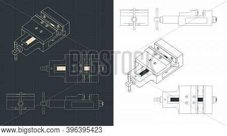 Bench Vice Blueprints