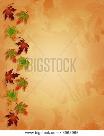 Fall Autumn Leaves Border