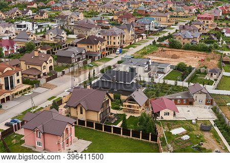 Perm, Russia - June 21, 2020: Preparation Of A Site For The Construction Of A Cottage In A Suburban