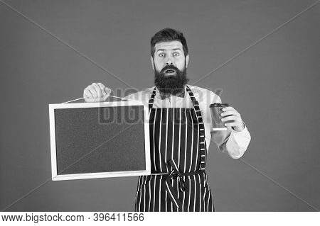 Cafe Menu. Cold Brew Coffee. Restaurant Staff. Hipster Professional Barista Apron Uniform. Waiter Ba