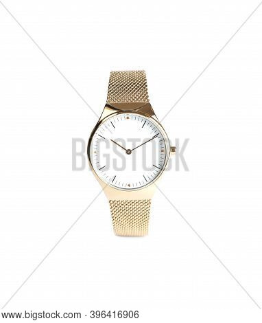 Luxury Wrist Watch Isolated On White. Fashion Accessory