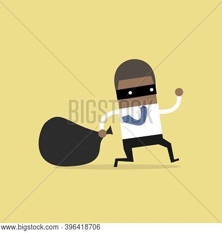 African Businessman In Burglar Mask Flees With Stolen Bag.