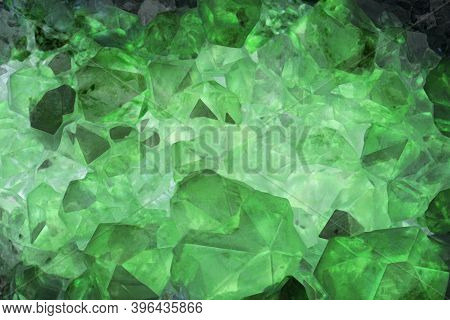 Green Amethyst Background.mineral Amethyst. Green Crystal Stone. Abstract Background