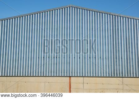 View of an agricultural warehouse in Spain.