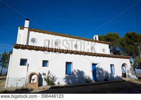 Hermitage of Santa Quiteria in Tardienta, Huesca province, Aragon in Spain.