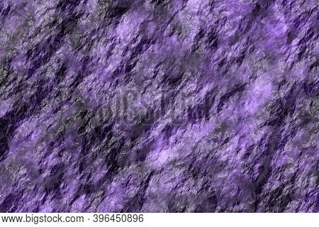 Beautiful Purple Reflecting Stonework Digitally Made Background Illustration