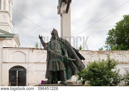 Yaroslavl, Russia - August 14, 2020: Monument To The Leaders Of The People's Militia Of 1612 Kuzma M