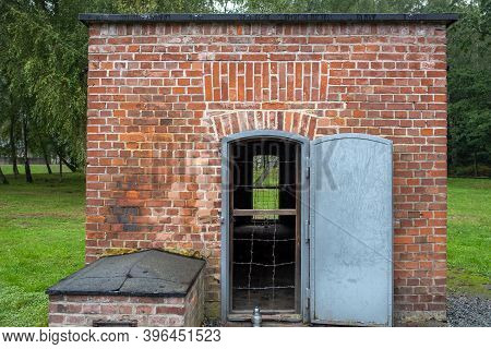 Sztutowo, Poland - Sept 5, 2020: Gas Chamber At The Former Nazi Germany Concentration Camp, Stutthof