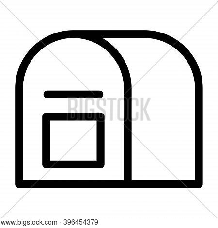 Postbox Icon In Line Style. Mail Box, Letter Box Sign.