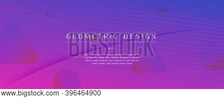 Pink Fluid Stripes. Business Layout. Abstract Gradient Landing Page. Vibrant Color Banner. Fluid Str