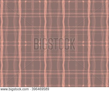 Nude Plaid Pattern. Tartan Texture. Seamless Buffalo Twill. Brown Abstract Celtic Border. Fall Plaid