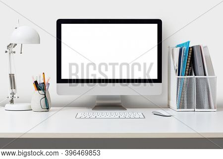 Desktop computer isolated on a white background. Desktop PC.