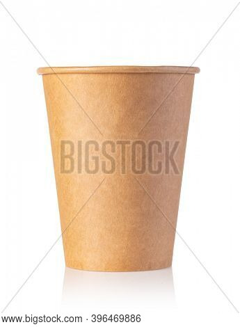 Coffee paper cup isolated on white