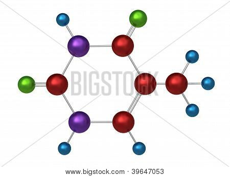 Molecule of thymine