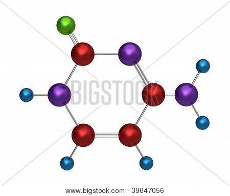 Molecule of cytosine