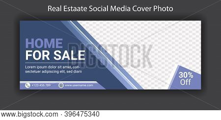 Facebook Timeline Cover Photo Template Design For Real Estate Business. Corporate Business Marketing