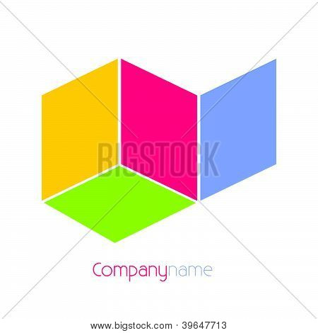 Company Name Background Vector Illustration