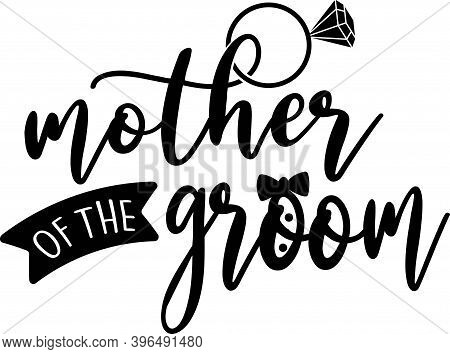 Mother Of The Groom Isolated On The White Background. Vector Illustration