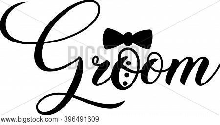 Groom Isolated On The White Background. Vector Illustration