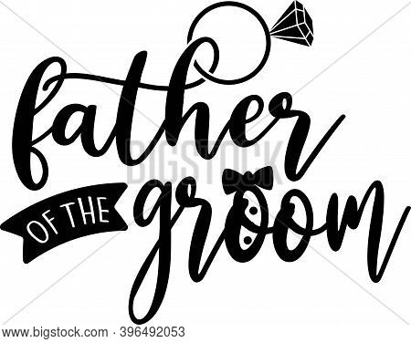 Father Of The Groom Isolated On The White Background. Vector Illustration