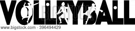 Volleyball Isolated On The White Background. Vector Illustration