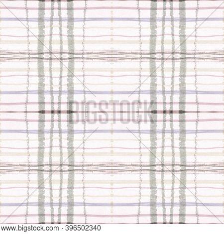 Plaid Pattern. Pale Check Texture. Irish Textured Tile. Seamless Modern Repeat. Geometric Plaid Patt