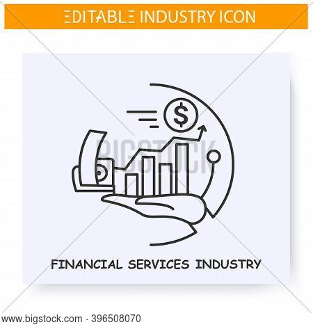 Financial Services Industry Line Icon.payment, Accountancy Technologies Invention. Modern Smart Tech