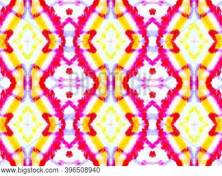 Seamless Watercolor Peru Pattern. Abstract Fashion Ethnic Background. Vintage Aquarelle Painted Text