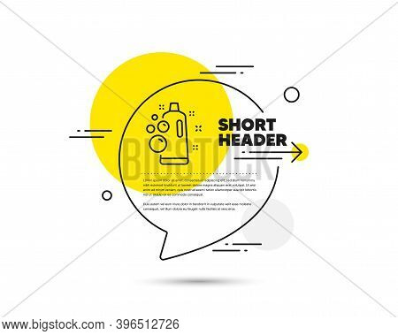 Clean Bubbles Line Icon. Speech Bubble Vector Concept. Laundry Shampoo Sign. Clothing Cleaner Symbol
