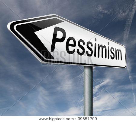 pessimism negative thinking bad mood pessimist