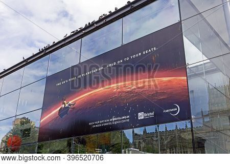 Bristol, Uk - June 22, 2017: A Poster Advertsing The Planerariun At The At-bristol Science Centre