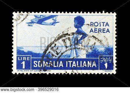 Somalia, Italian Administration  - Circa 1936 : Cancelled Postage Tamp Printed By  Somalia, Italian