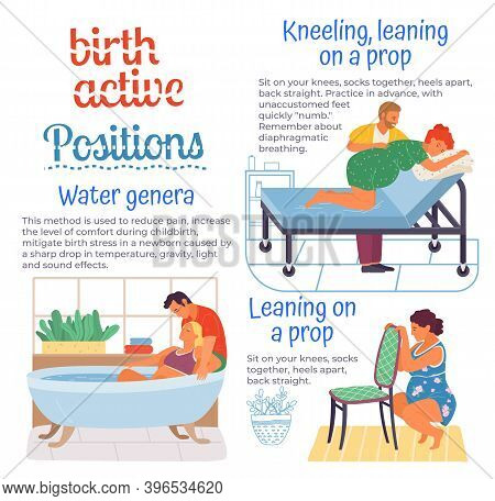Birth Positions For Pregnant Woman, Comfortable Posture For Birthing, Technique For Childbirth, Usef