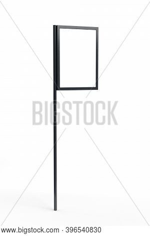 Advertising Stand Mockup With Led Display Isolated On White Background - 3d Render