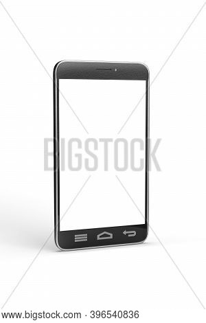 Phone Mockup - Black Smartphone Isolated On A White Background - 3d Render