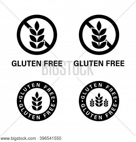 Gluten Free Icon. Vector Isolated Elements. Gluten Free Sign Collection. Stock Vector.