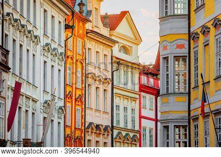 Colorful Houses  in Prague, Czech Republic
