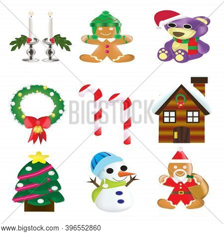 The Christmas Isometric Icon Set (-clipping Path)
