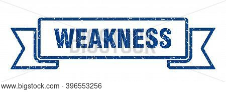 Weakness Grunge Vintage Retro Band. Weakness Ribbon
