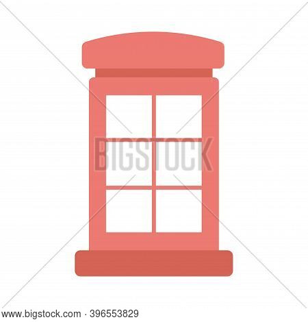 Telephone Box Icon. Telephone Booth, Kiosk Sign. Flat Icon Illustration For Perfect Web And Mobile C