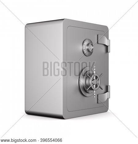 safe on white background. Isolated 3D illustration