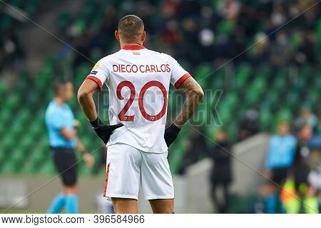Krasnodar, Russia - November 24, 2020: Diego Carlos Of Sevilla Fc In Action During The Uefa Champion