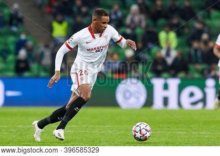 Krasnodar, Russia - November 24, 2020: Fernando Reges Of Sevilla Fc In Action During The Uefa Champi