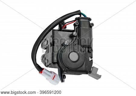 Electric Car Door Closing Mechanism On A White Background