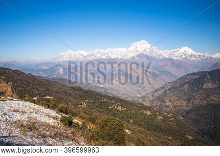 Scenery Of Annapurna Massif In The Himalayas In Nepal
