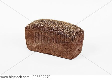 Fresh Bakery Product. Bread. Rye Bread Isolated On White Background. Top View And Copy Space For Tex