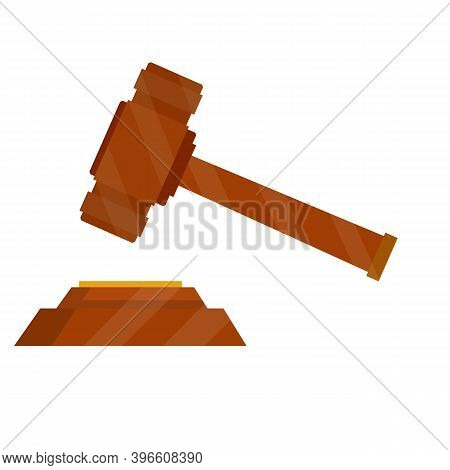 Judge Hammer. Symbol Of Lawyer, Judiciary And State.
