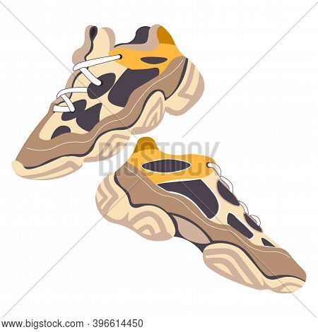 Trendy Pair Of Shoes Ugly Sneakers Fashion Clothes