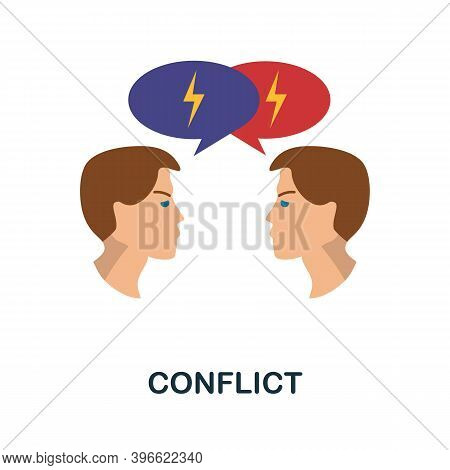 Conflict Icon. Simple Element From Personality Collection. Creative Conflict Icon For Web Design, Te